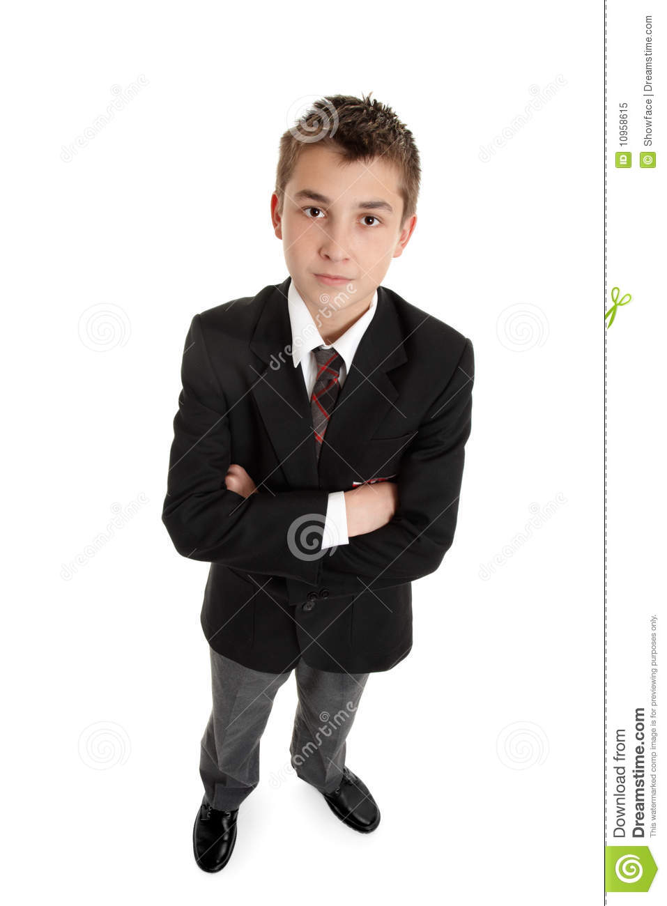 Serious Secondary Schoolboy In Uniform Stock Image - Image ...
