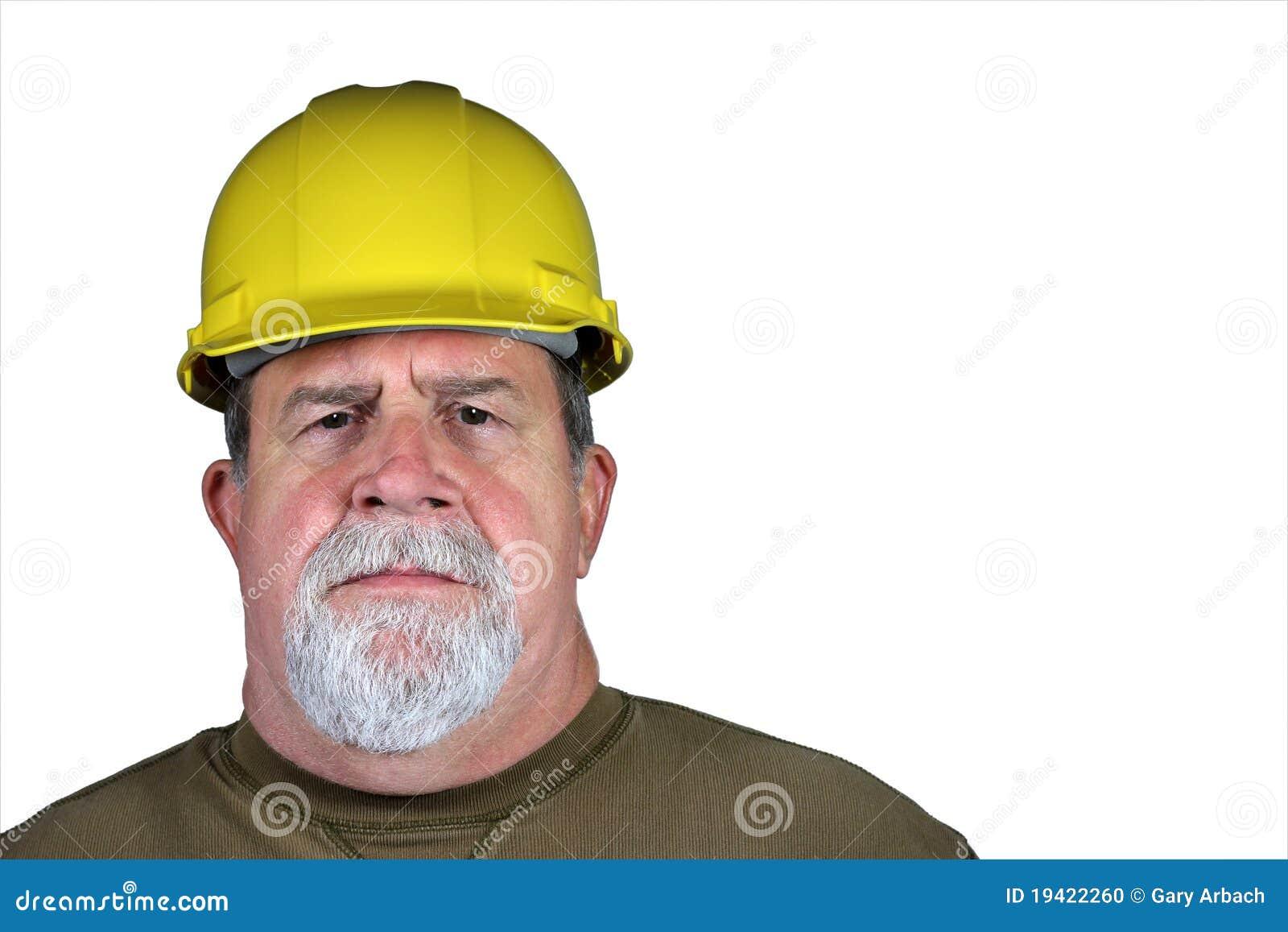 Serious Tough Construction Worker