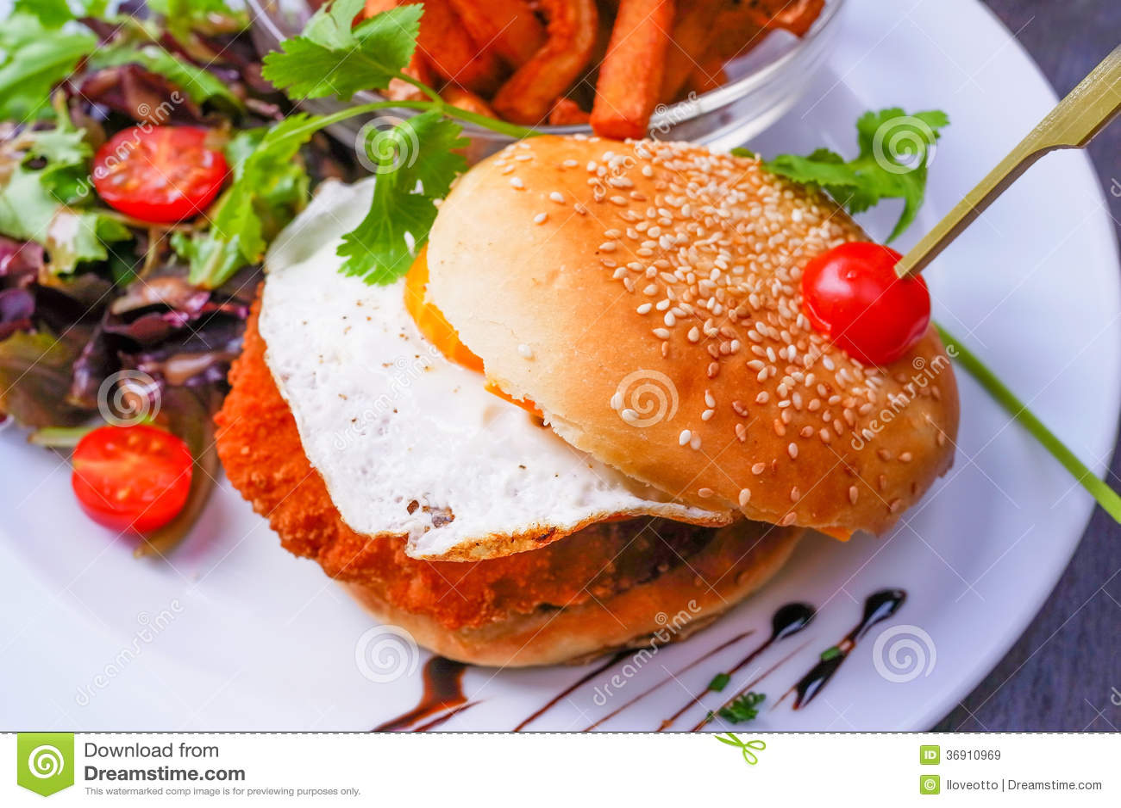 Serowy hamburger