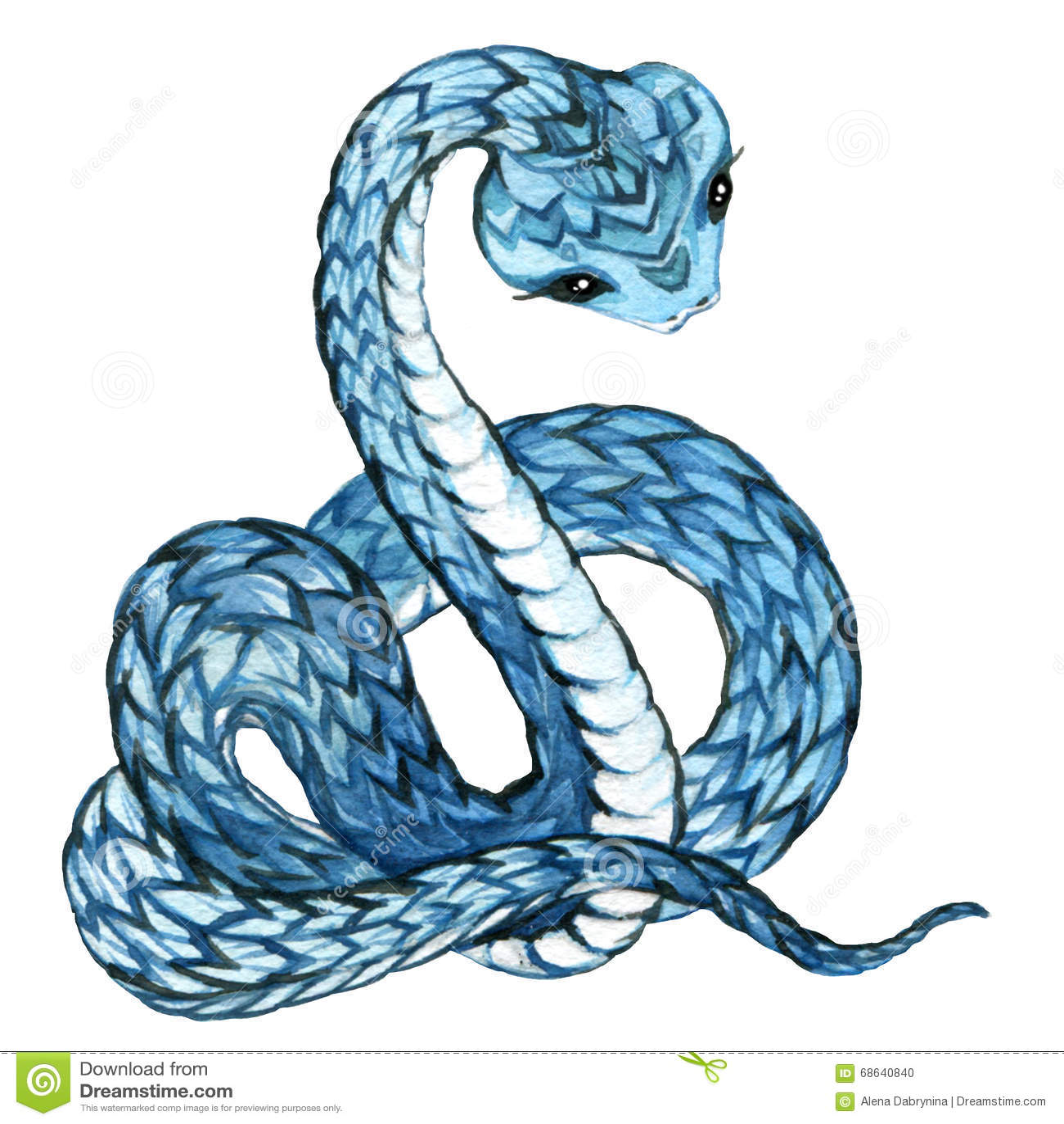 Green snake cartoon royalty free stock image image 19462406 - Serpent Aquarelle De Serpent Photo Stock