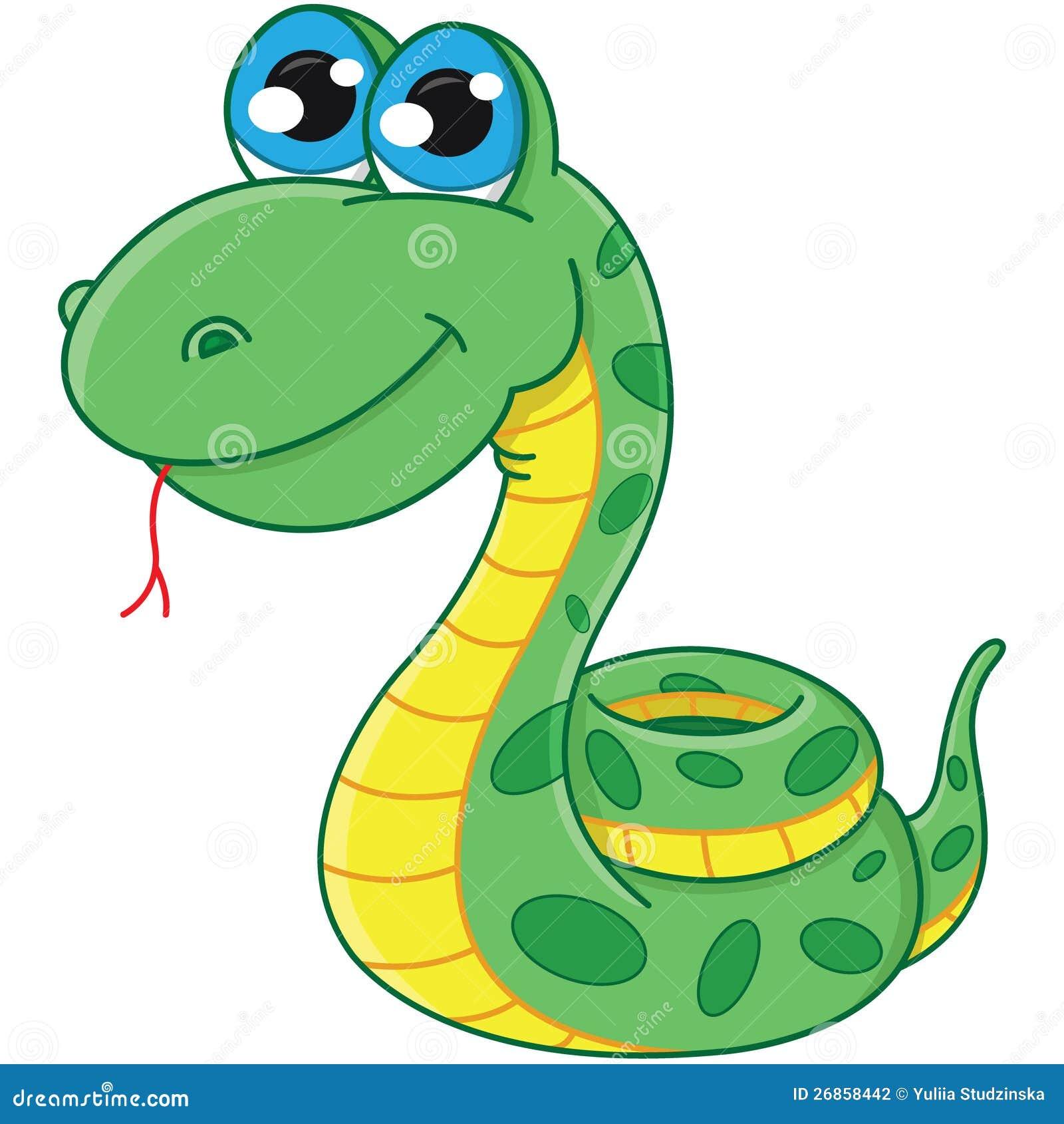 Serpent de dessin anim illustration de vecteur - Dessin de serpent ...