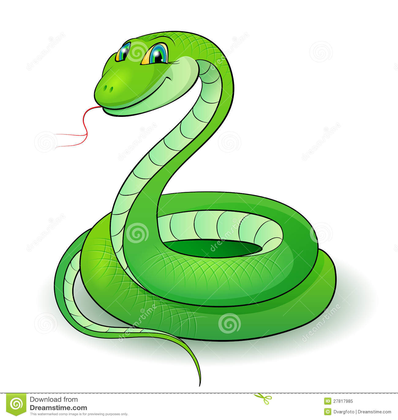 Green snake cartoon royalty free stock image image 19462406 - Serpent Vert Photo Libre De Droits