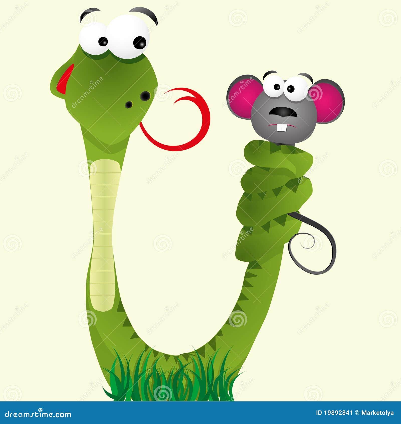 Green snake cartoon royalty free stock image image 19462406 - Serpente E Bocca Immagine Stock