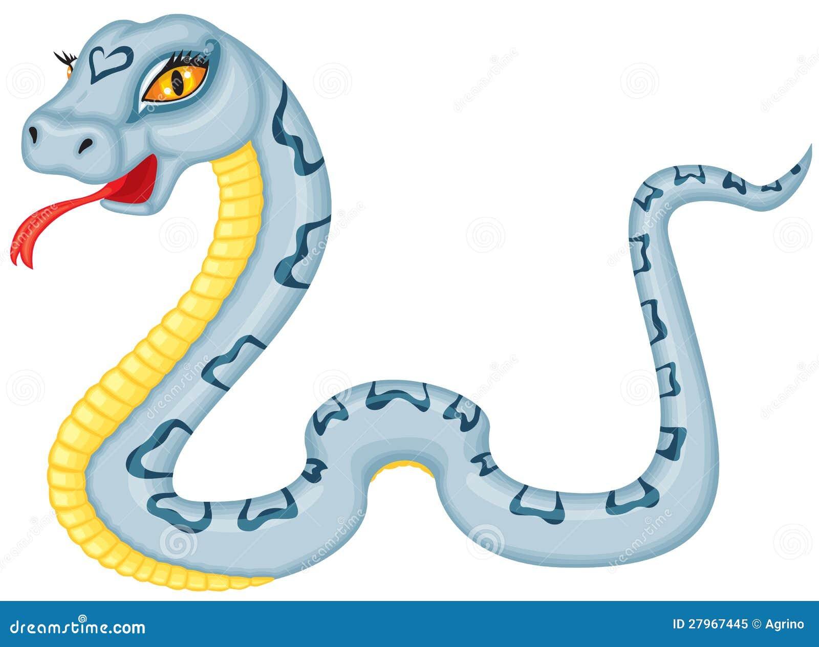 Serpiente De La Historieta Ilustración Del Vector Ilustración De