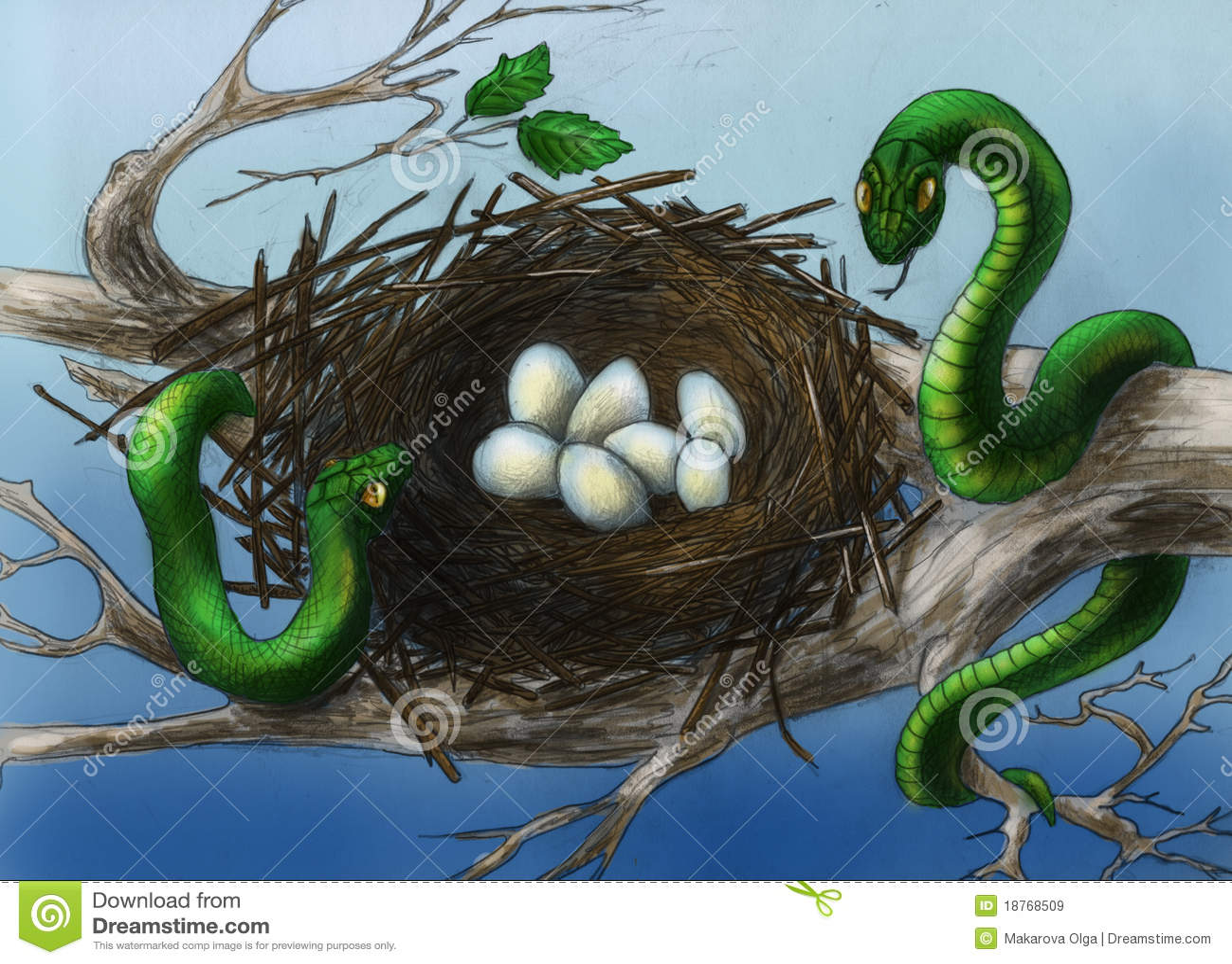 Serpientes en la jerarquía del pájaro