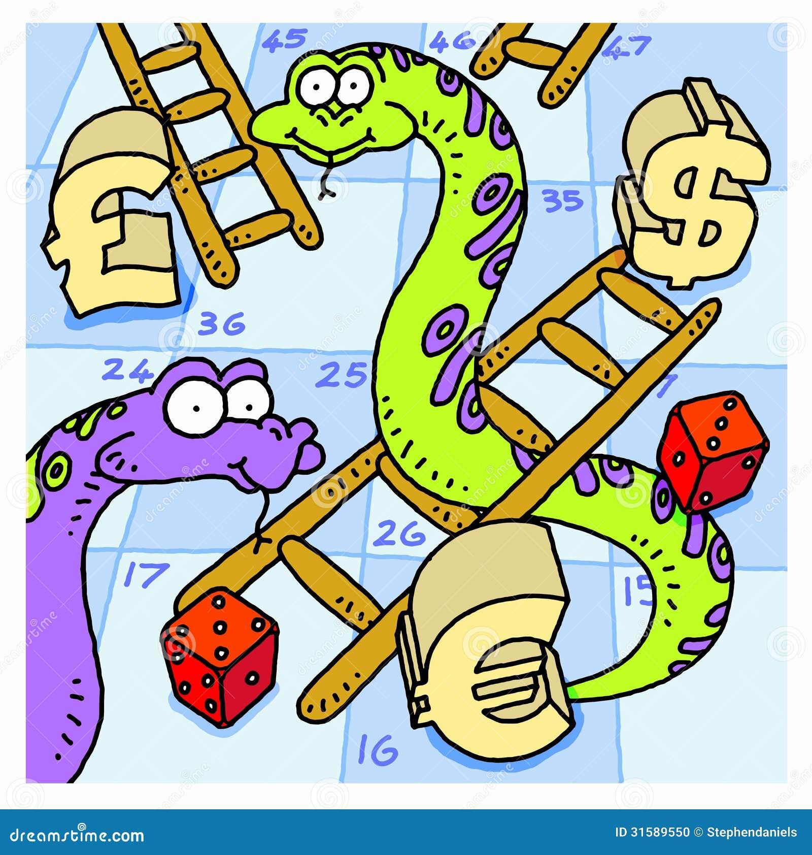 Serpientes y escaleras foto de archivo imagen 31589550 for Escaleras y serpientes imprimir