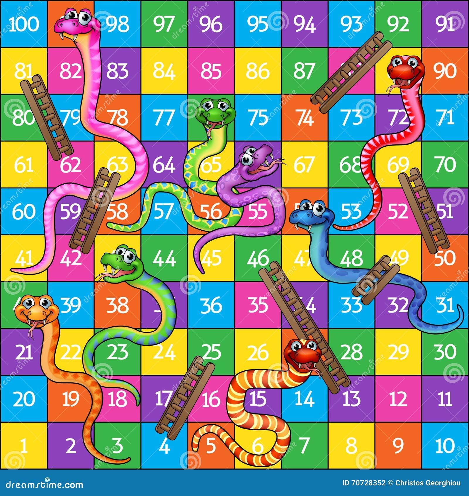 Serpientes y escaleras ilustraci n del vector ilustraci n for Escaleras y serpientes imprimir