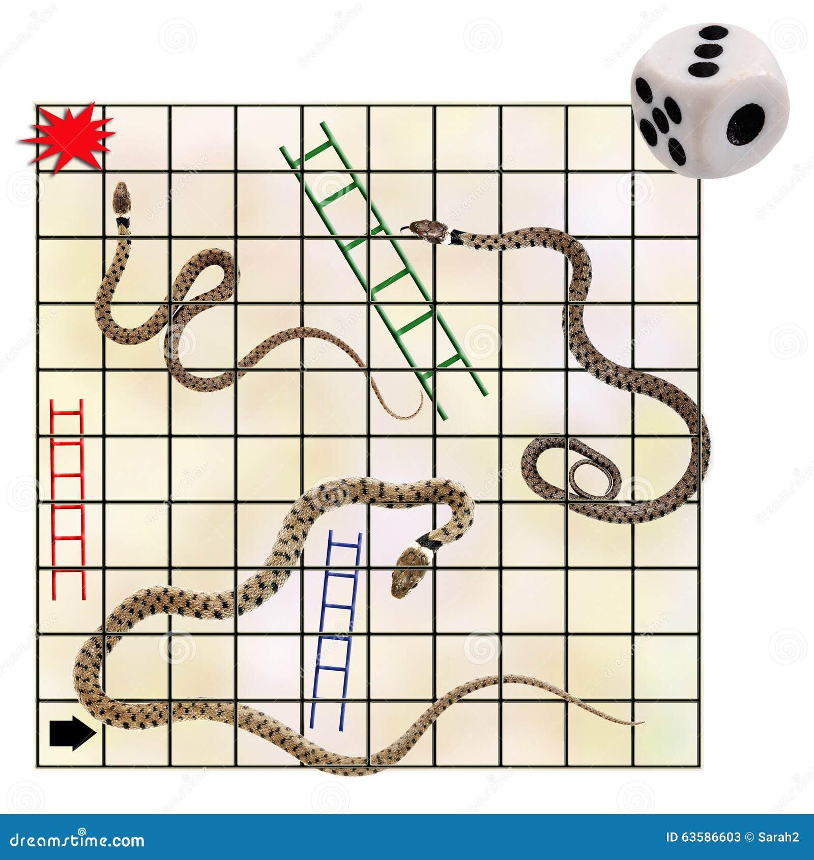 Serpientes y escaleras concepto del negocio del riesgo for Escaleras y serpientes imprimir