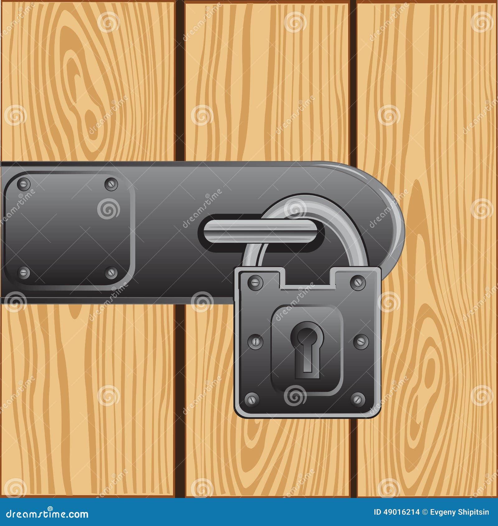 Serrure ext rieure sur la porte illustration de vecteur - La porte exterieure ...