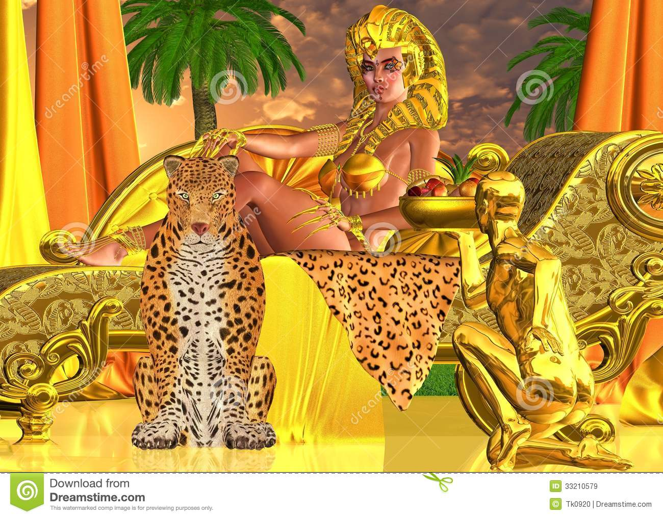 Serve The Pharaoh Queen Royalty Free Stock Image