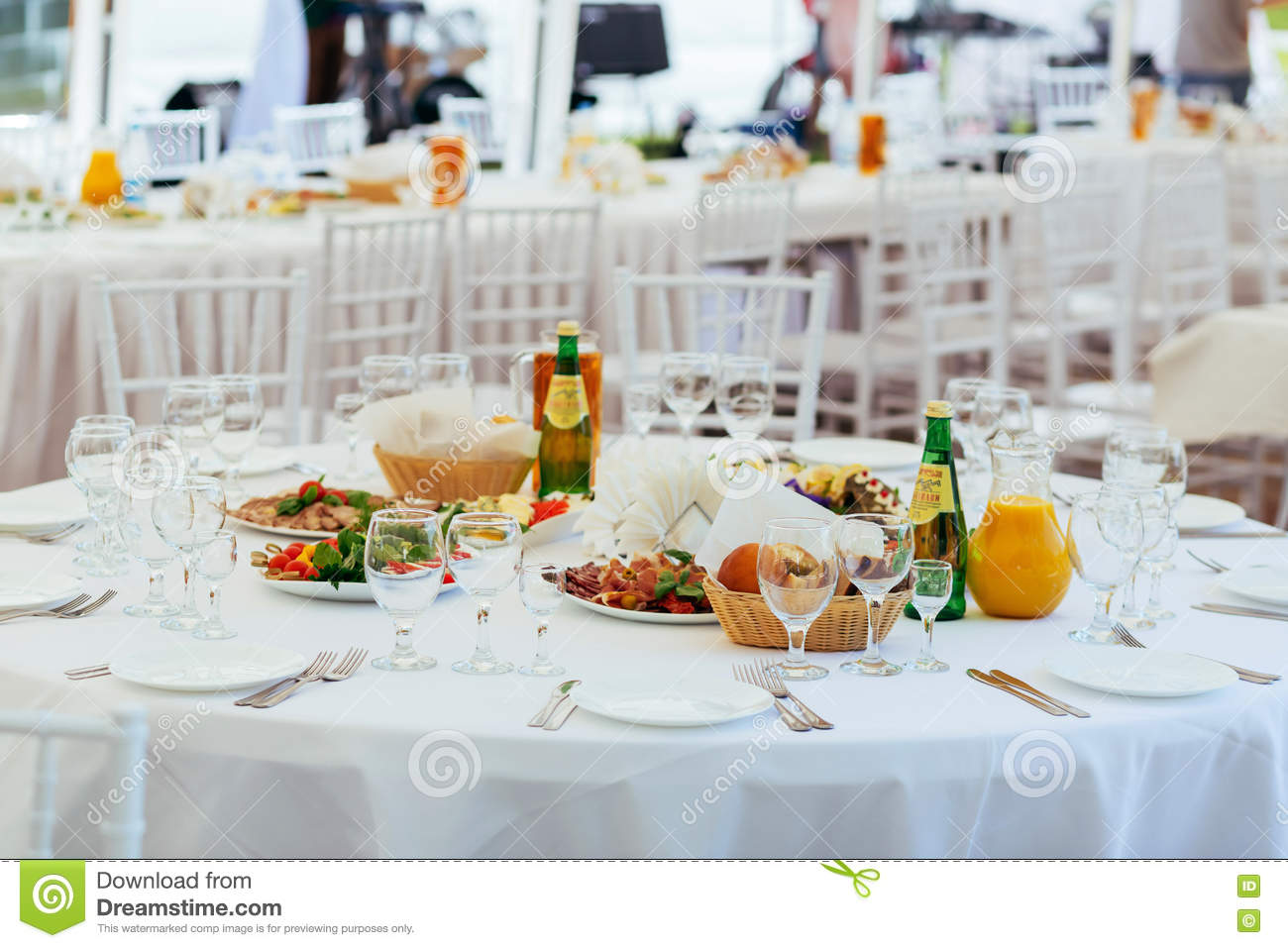 Served Round Table For Outdoor Event Stock Photo Image Of Crockery Lifestyle 72999186