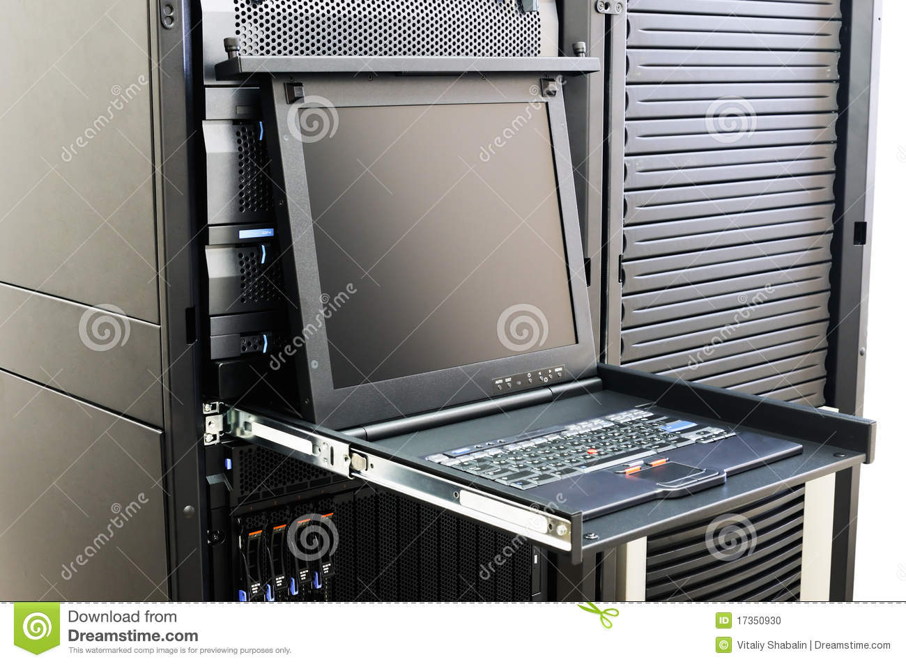 Server Conrtol Console Stock Photo Image Of Chassis