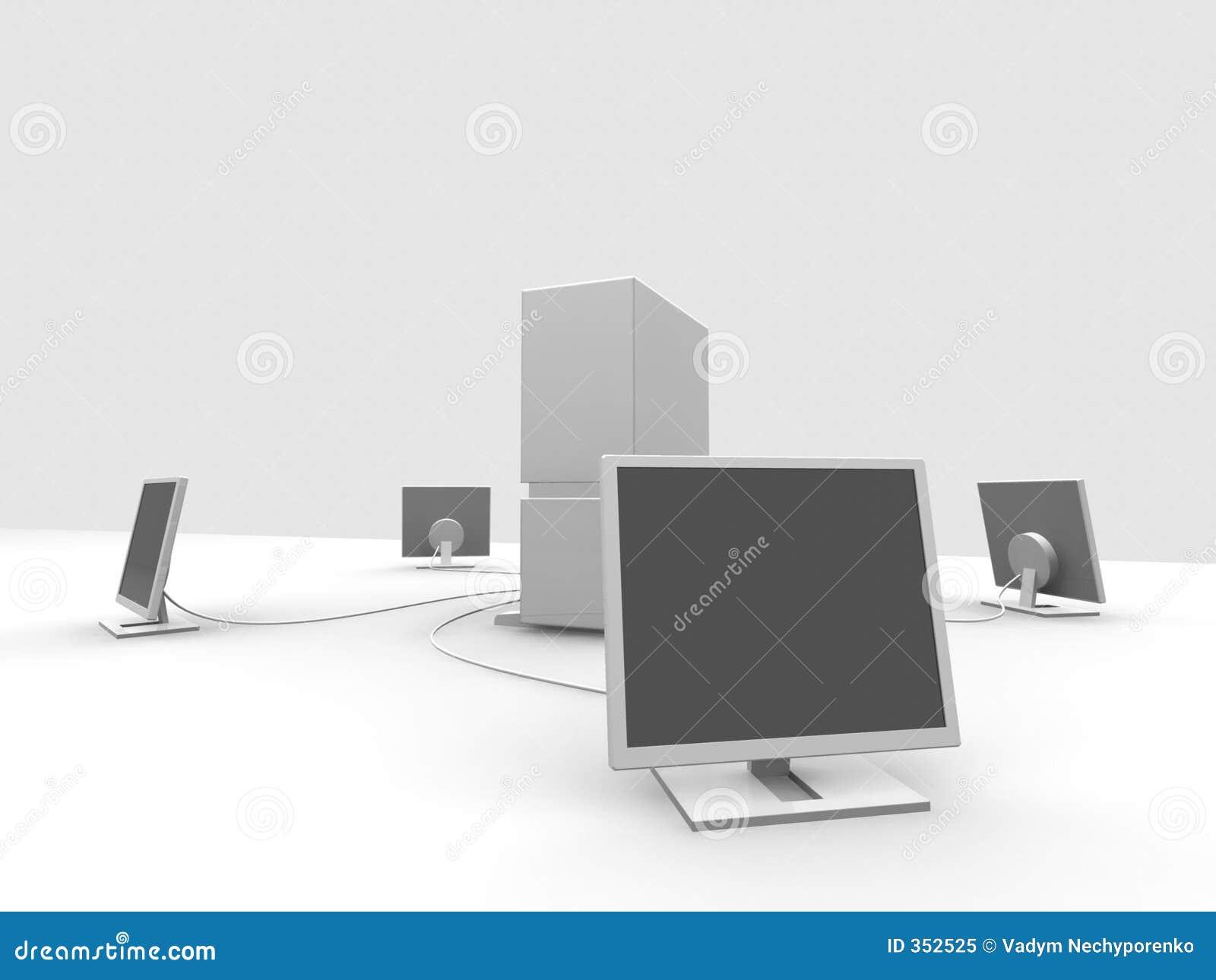 Server e 4 videi