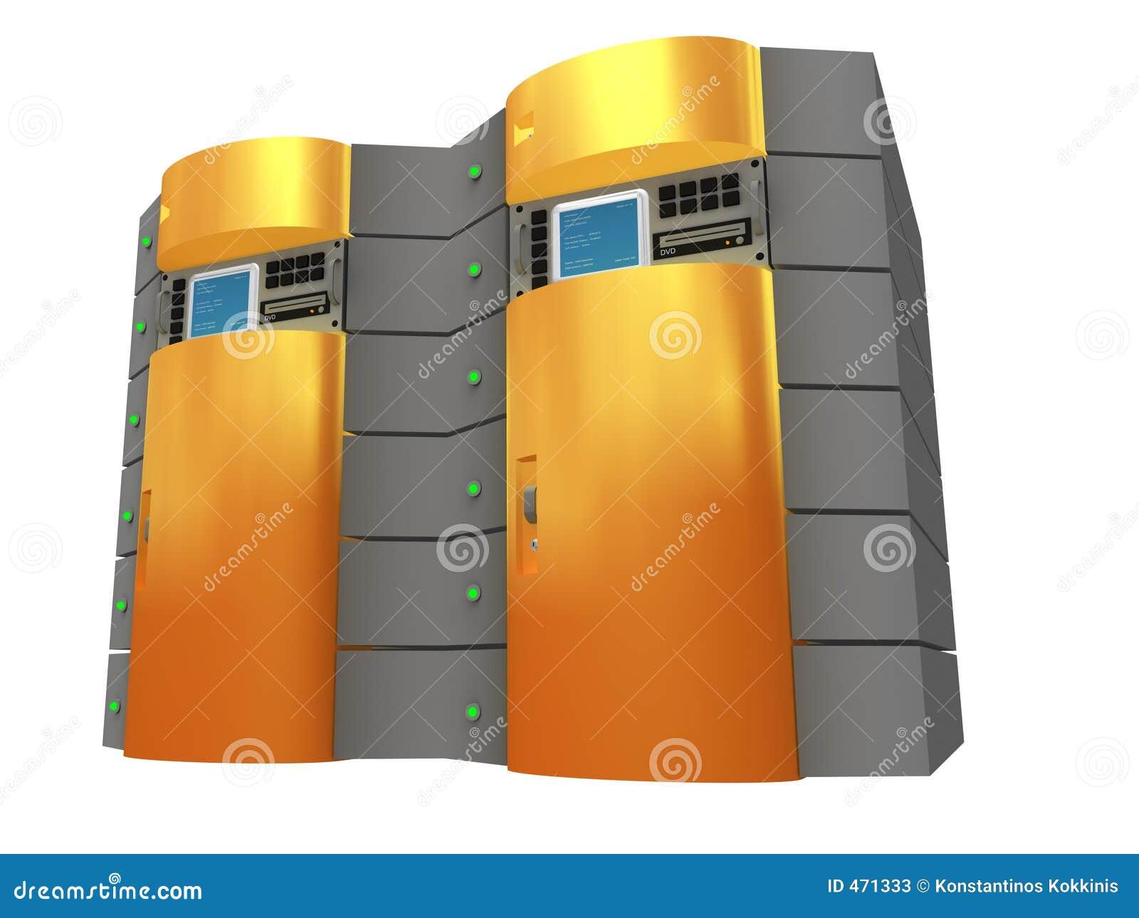 Server för orange 3d