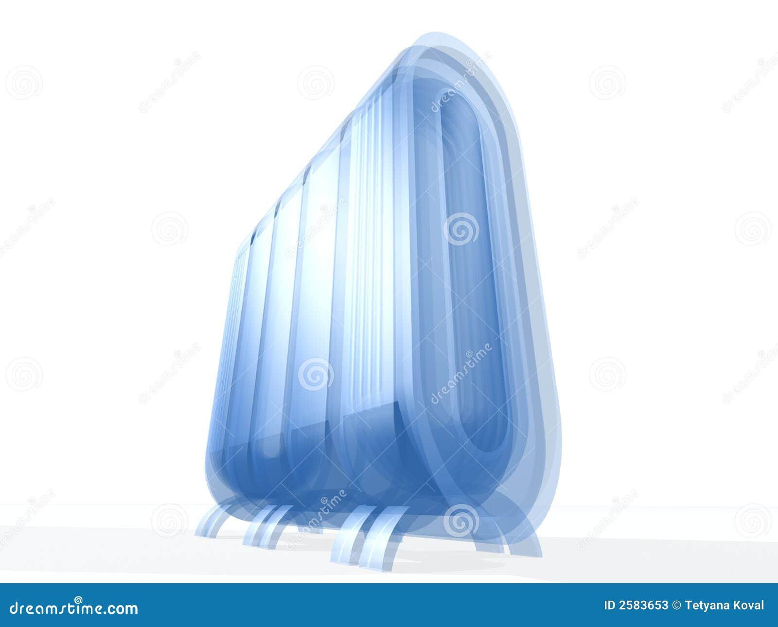 Server met Blauw Glas