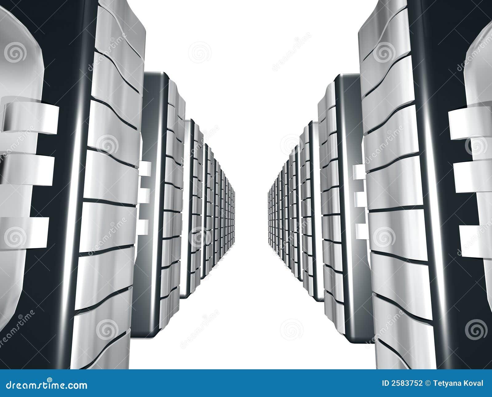 Server met Zilveren metaal