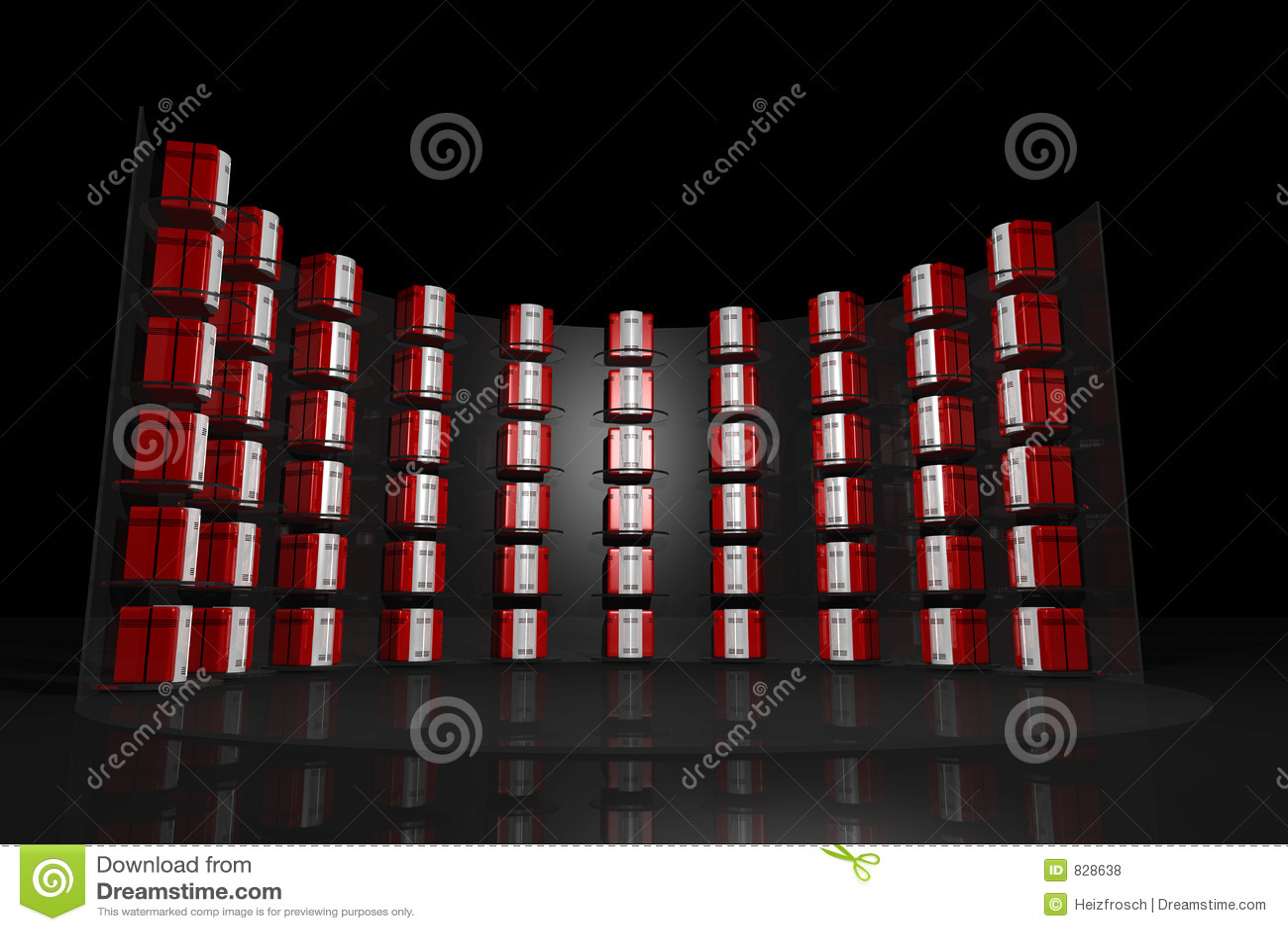 Server rack black