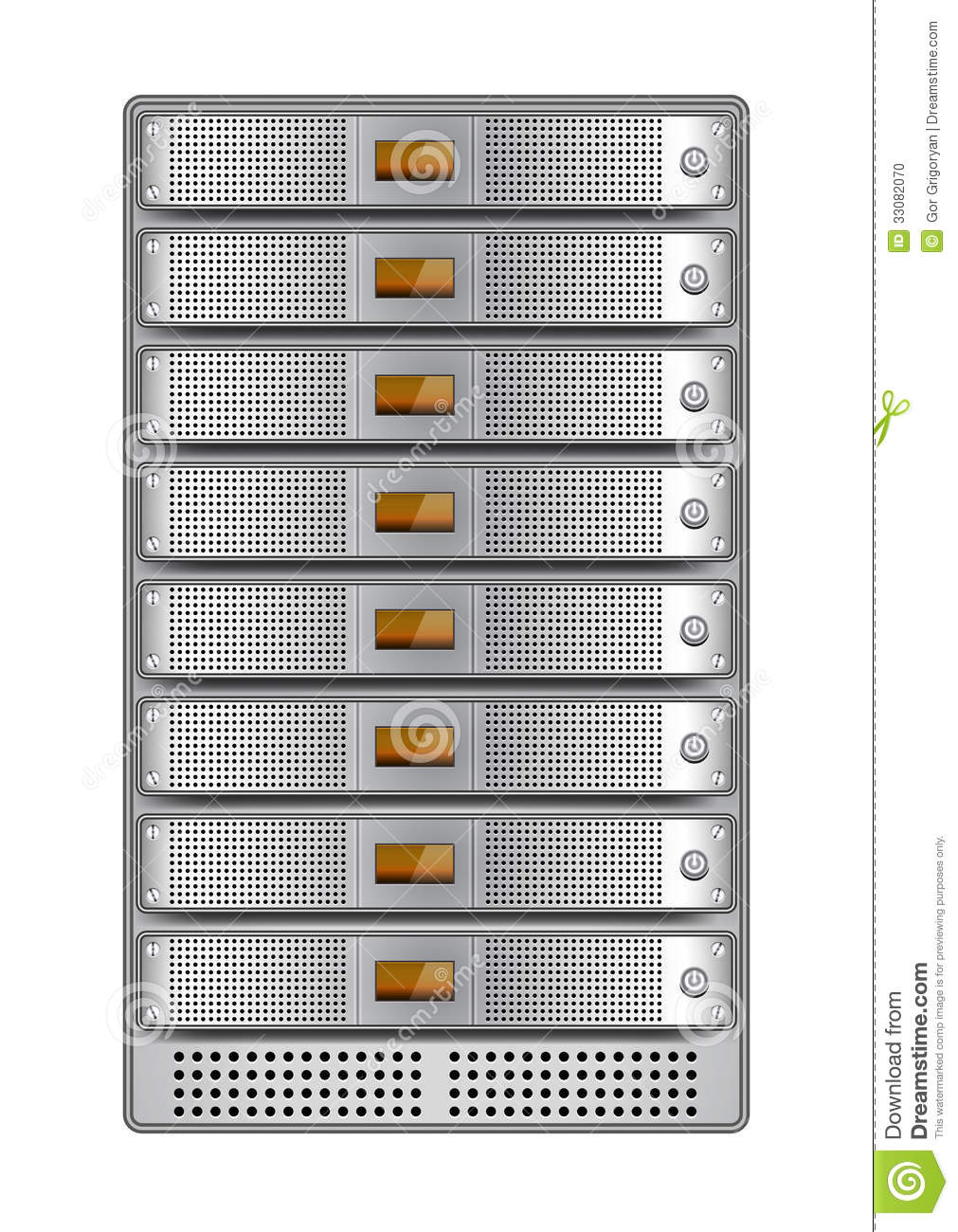 server rack installed-4 stock photo