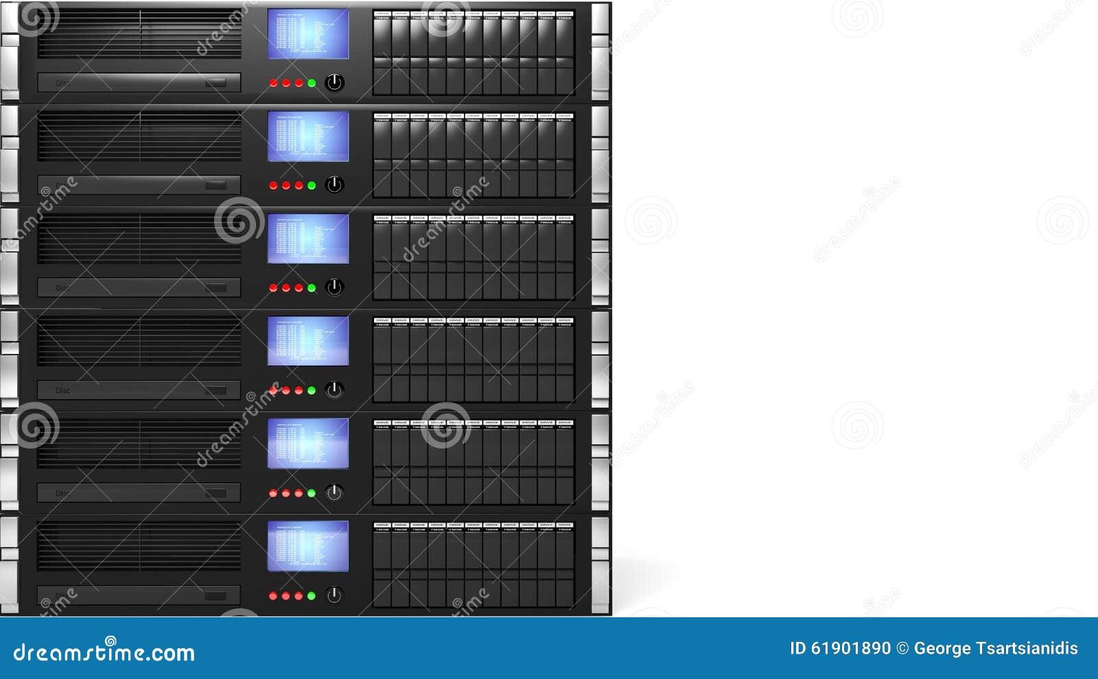 Server racks stock illustration  Illustration of online