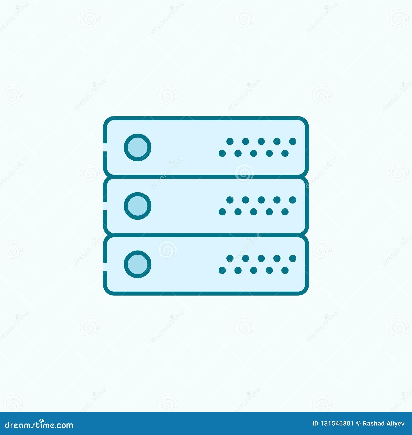 Server 2 rassenbarrièrepictogram Eenvoudige kleurenelementillustratie het ontwerp van de serveroverzichtsknop van Webpictogrammen