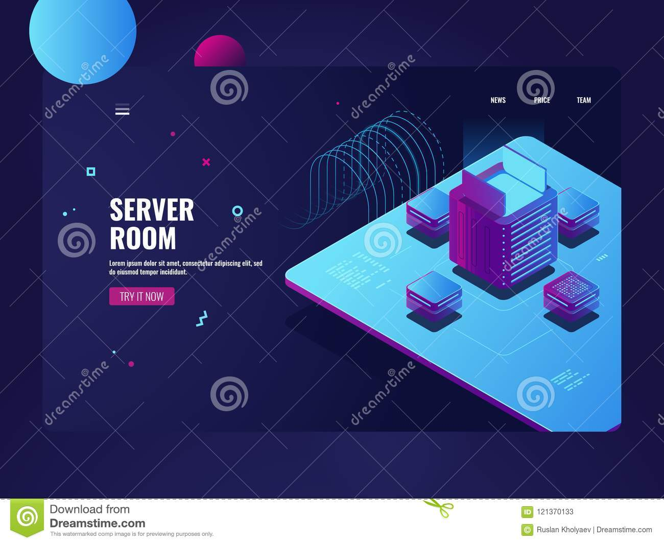 Server Room Big Data Processing Cryptocurrency Mining Process Datacenter And Database Concept