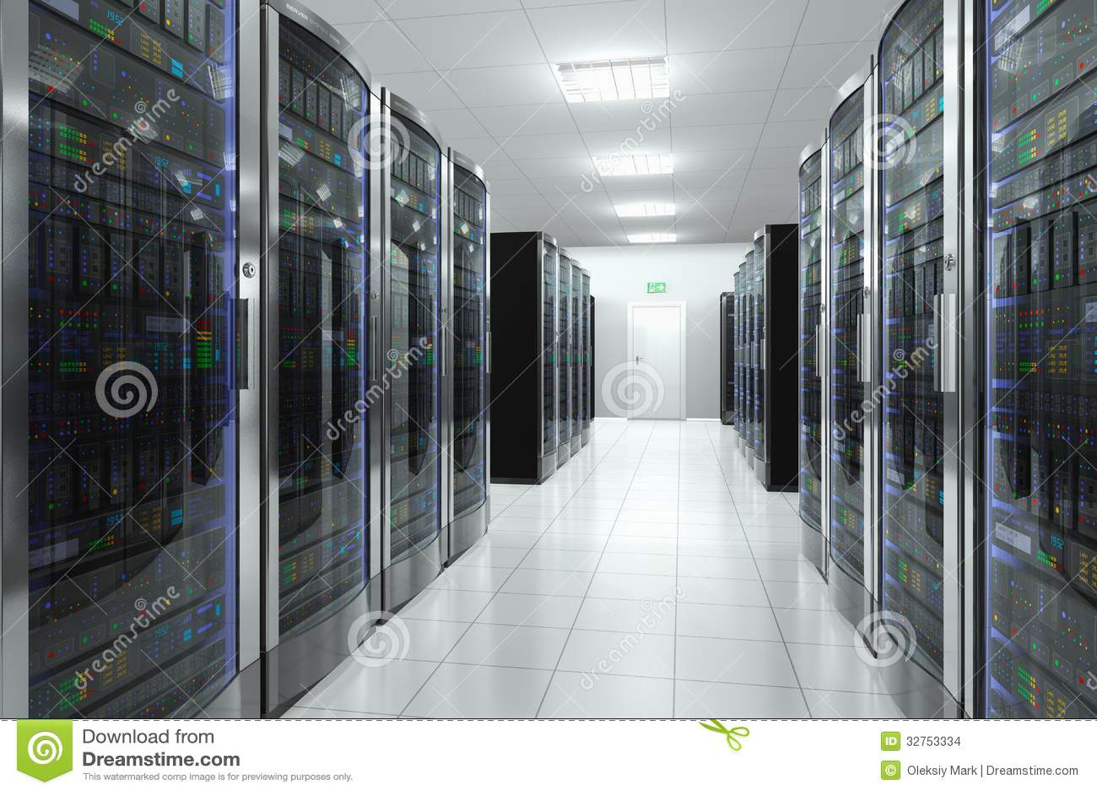 Unlimited Data Plans >> Server room in datacenter stock illustration. Illustration of computer - 32753334