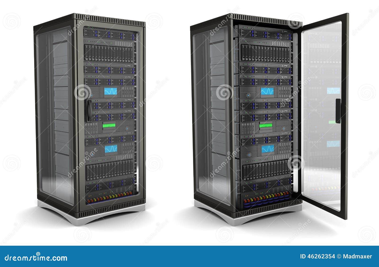 Server Stand Stock Illustration Illustration Of Data