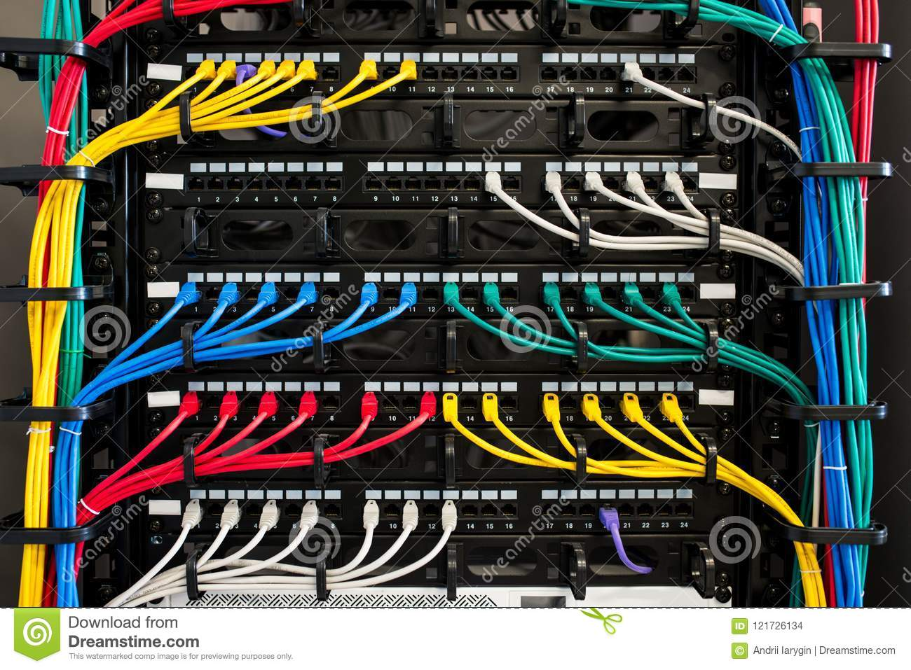 Server and wires