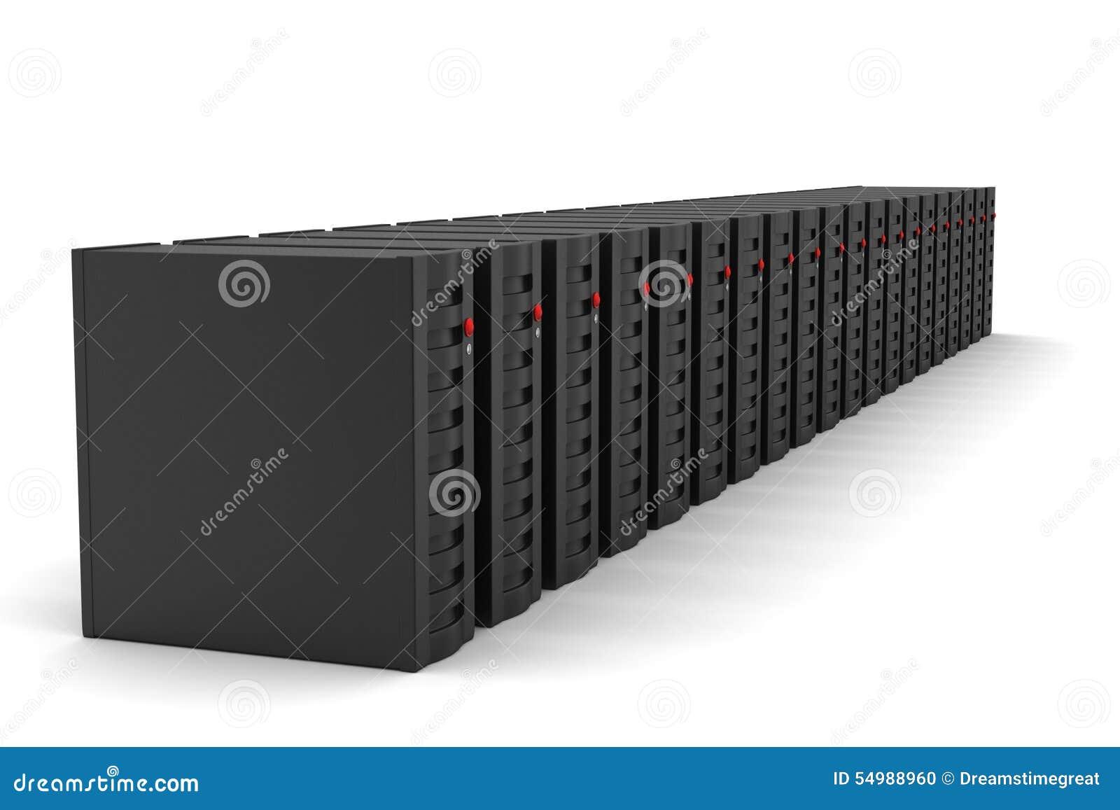 Serveren och data skriver in