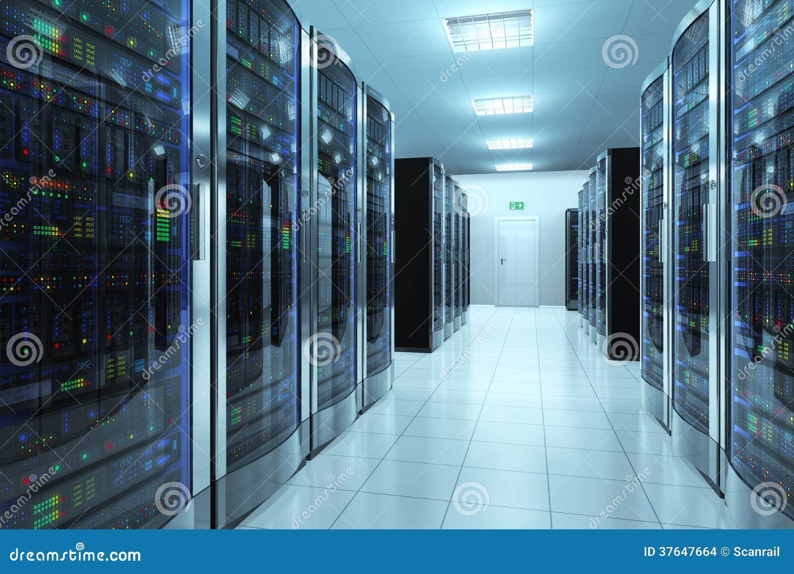 Serverrum i datacenter