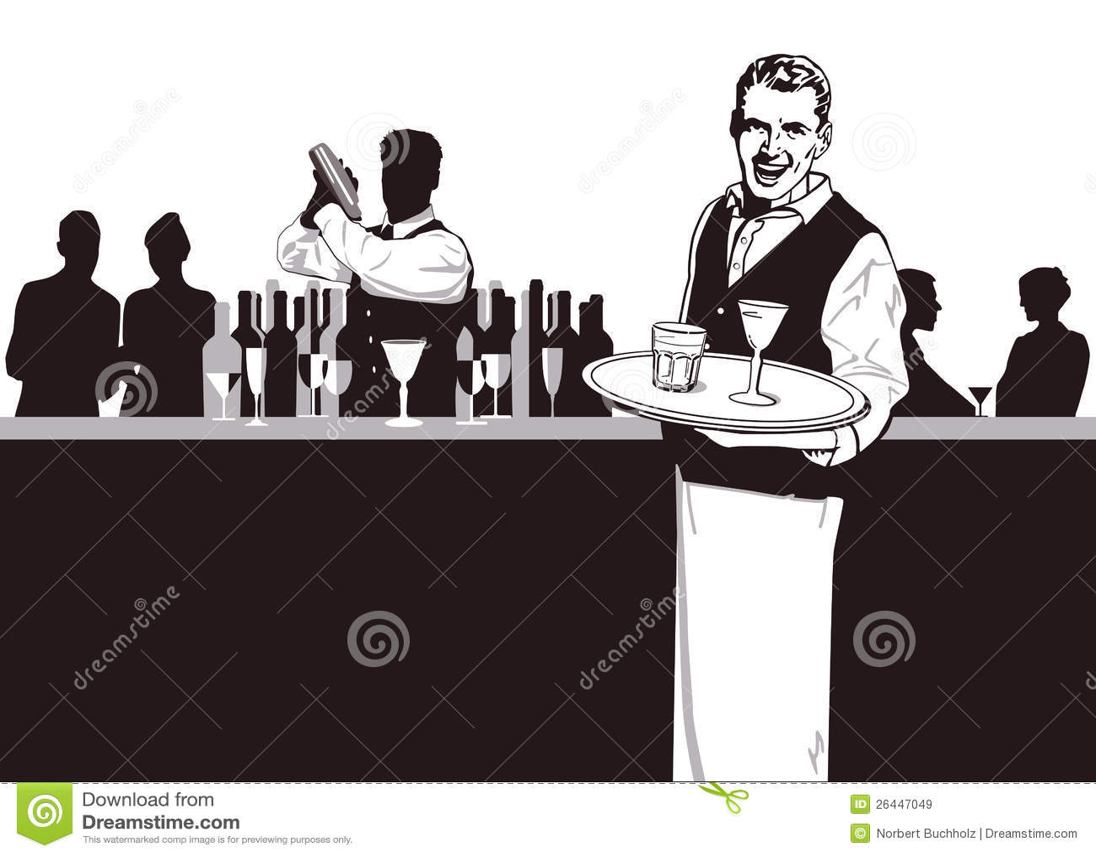 Serveur et barman
