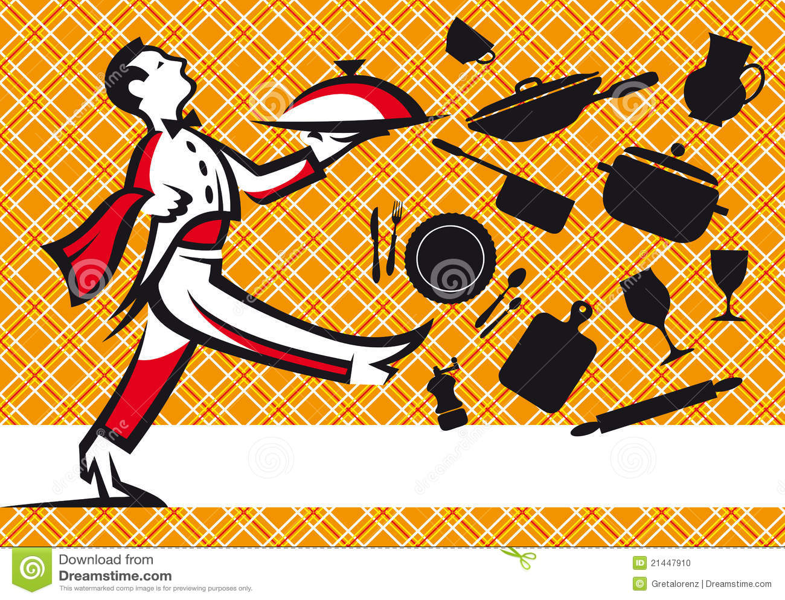 Serveur et conception de nappe d 39 outils de cuisine photo for Outil de conception cuisine