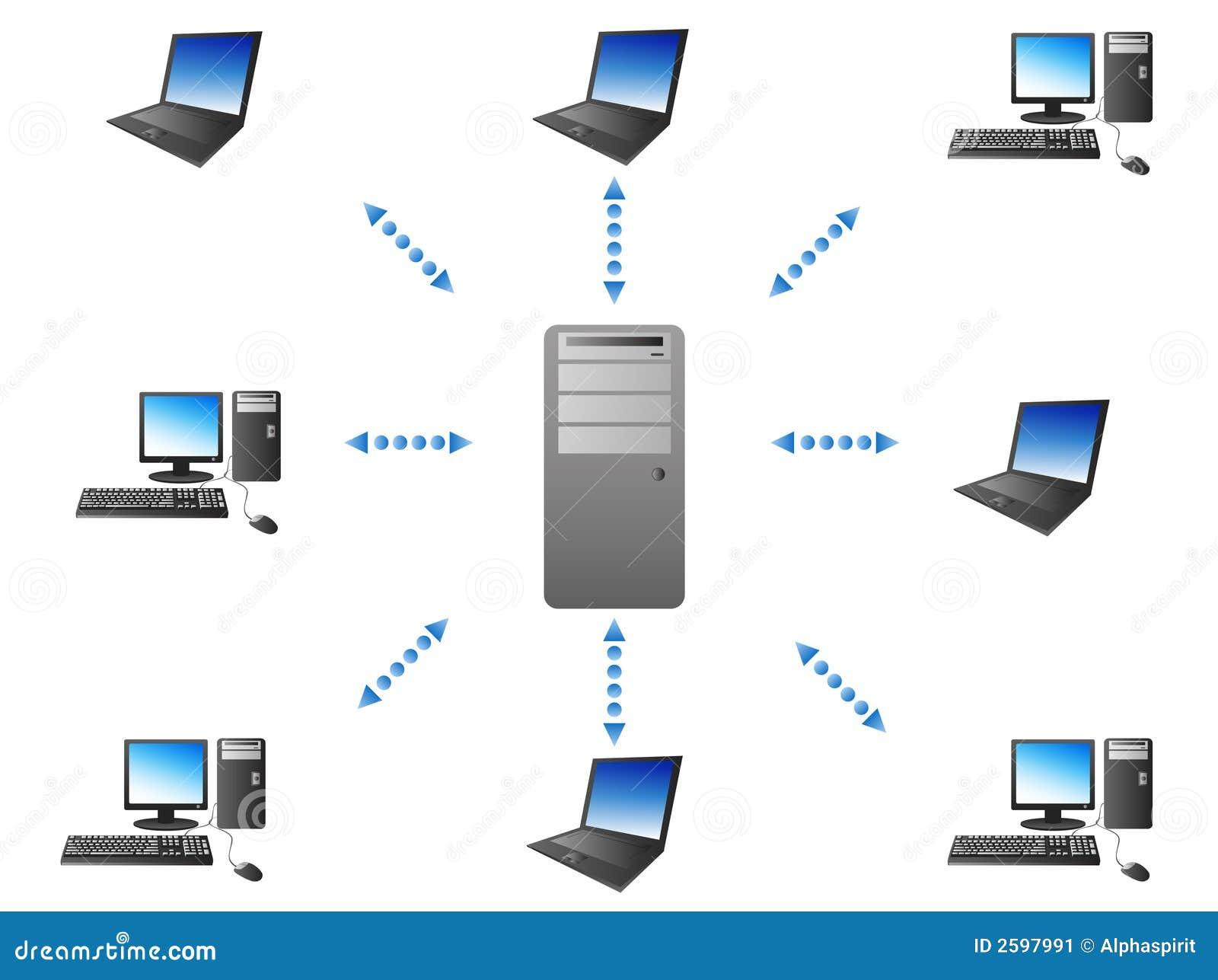 Serveur transmission de client image stock image 2597991 for Architecture client serveur