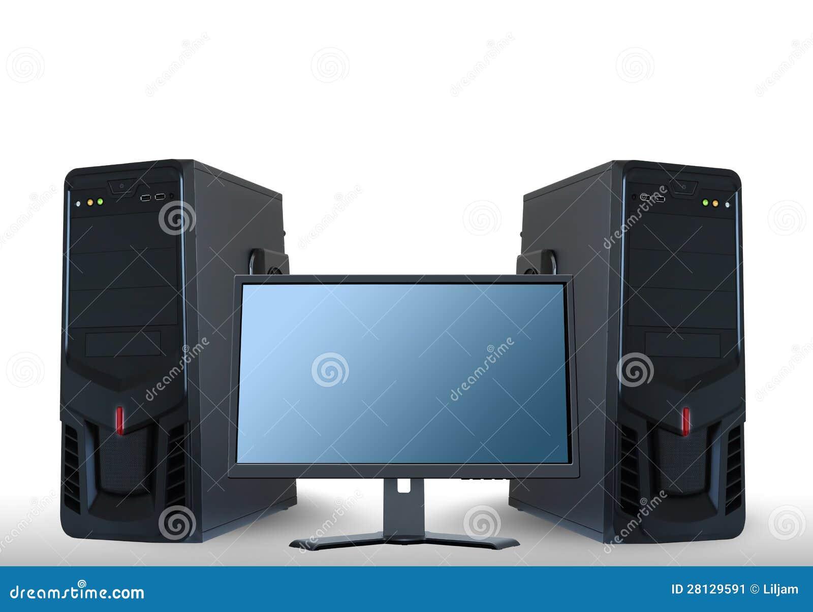 Serveurs d ordinateur et moniteur d affichage à cristaux liquides