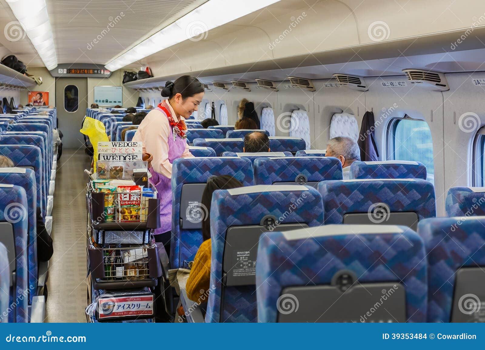Serviço de alimentação em um Shinkansen