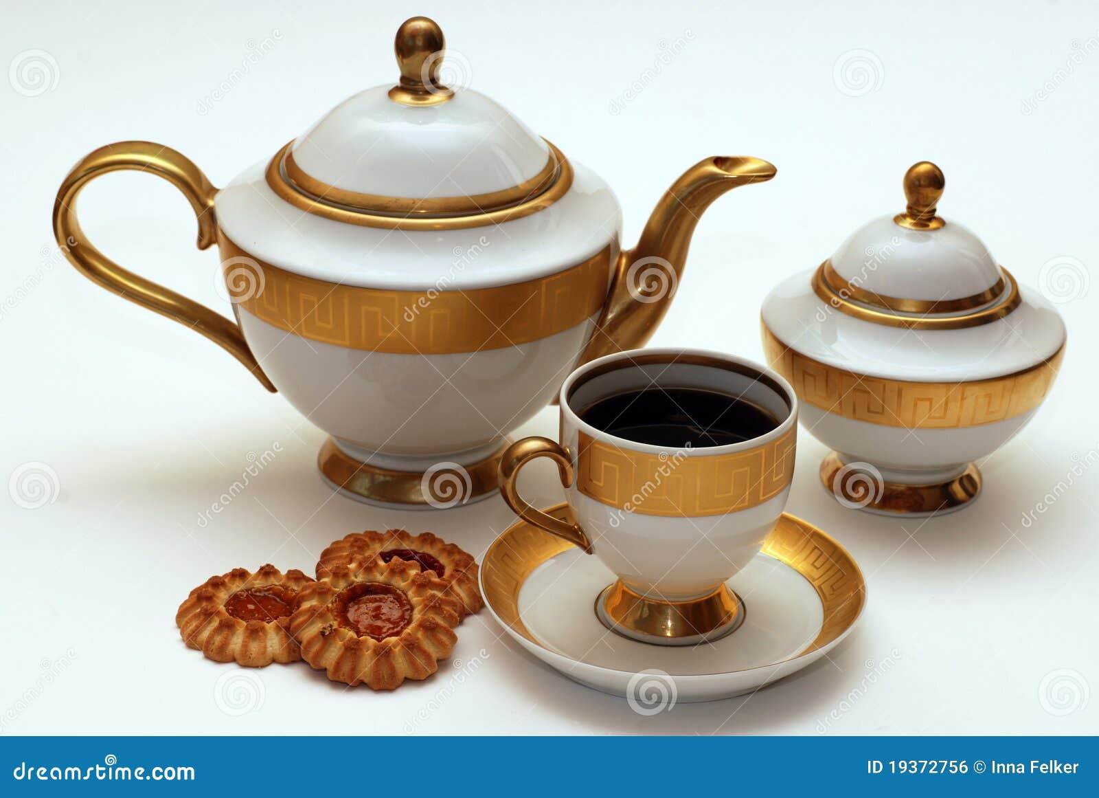 Serviço de chá elegante