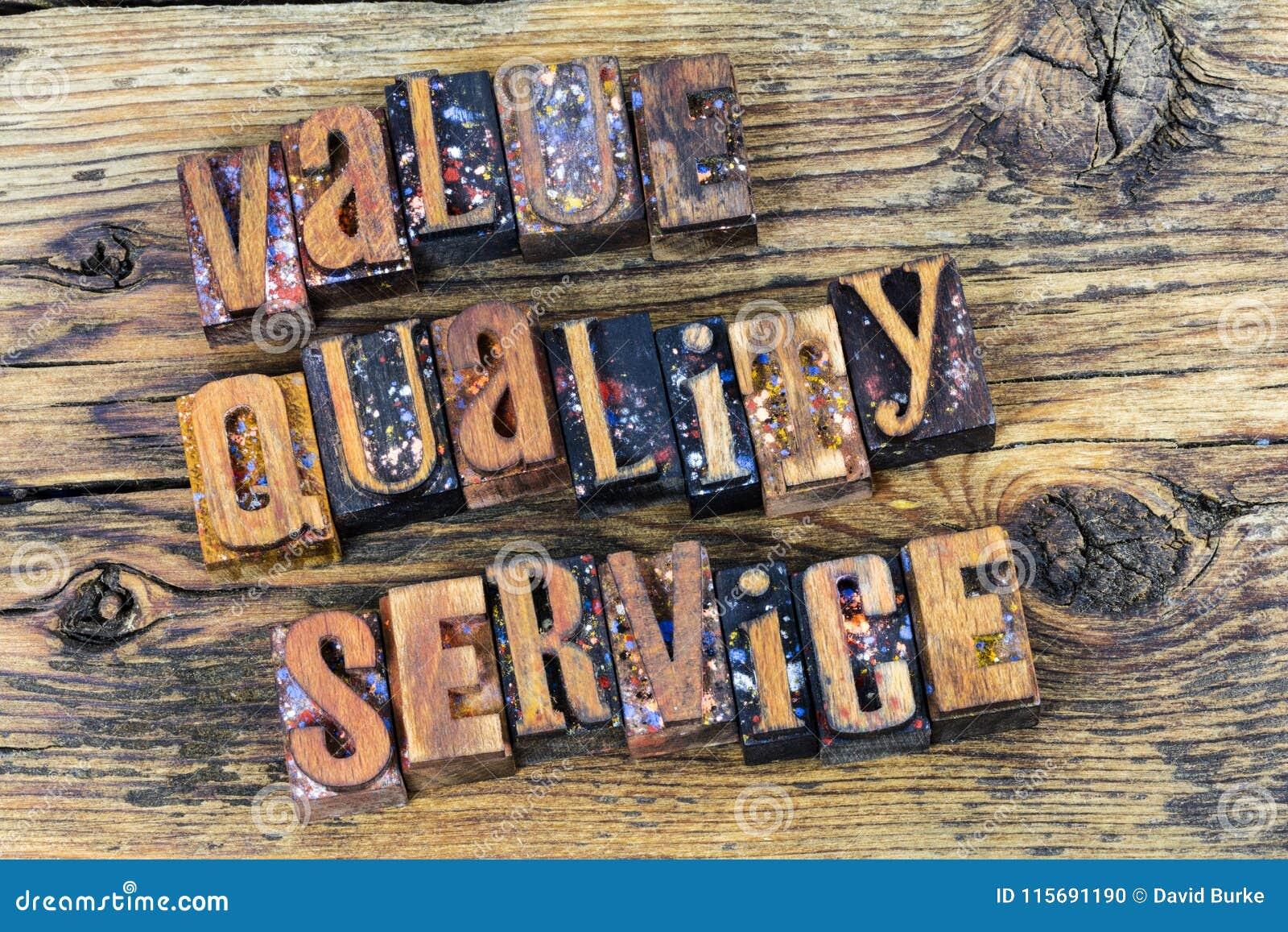 Serviço de qualidade do valor do cliente
