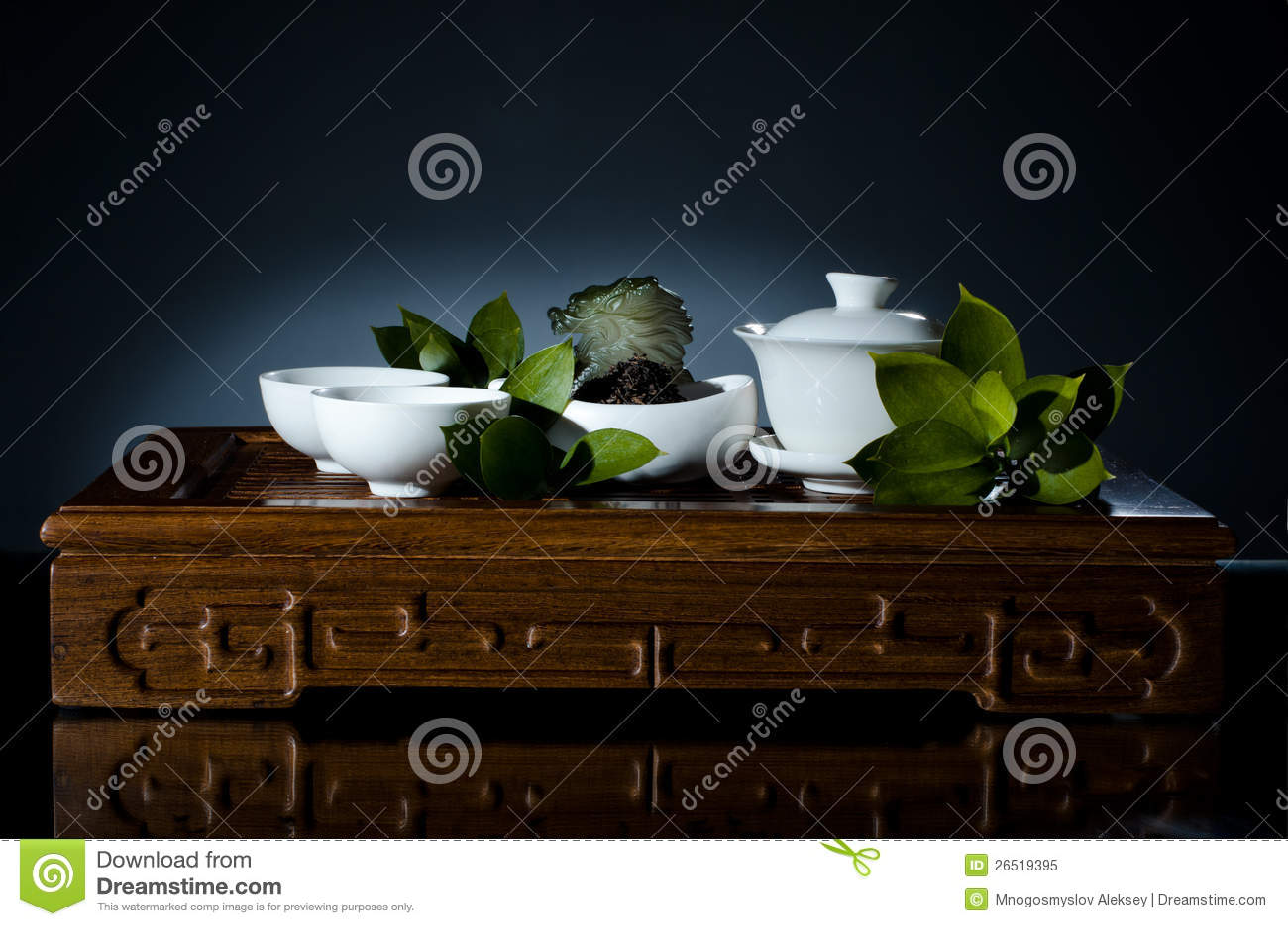 Serviço dos mercadorias da porcelana do chá