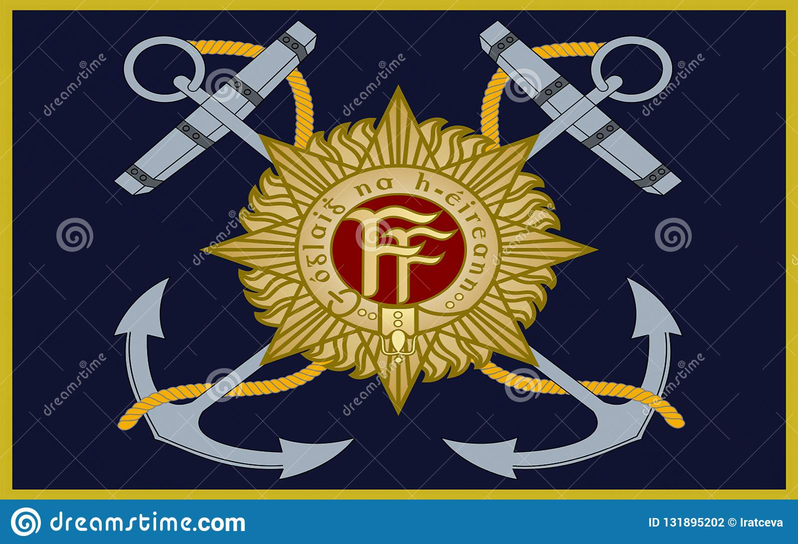Serviço naval irlandês da bandeira