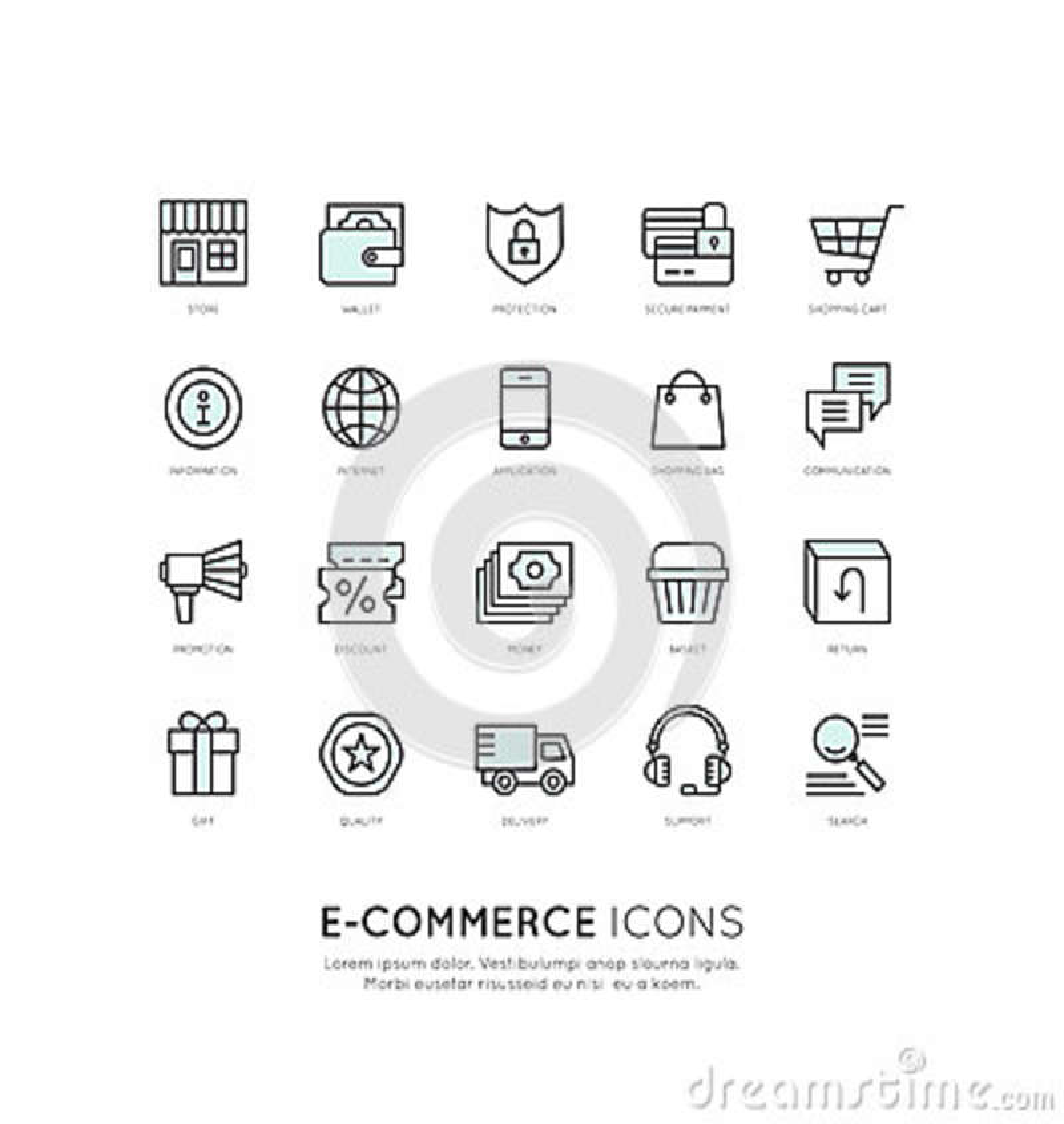 Serviços de transporte e compra das facilidades, entrega e conceito em linha dos retornos, do comércio eletrônico e do m-pagament