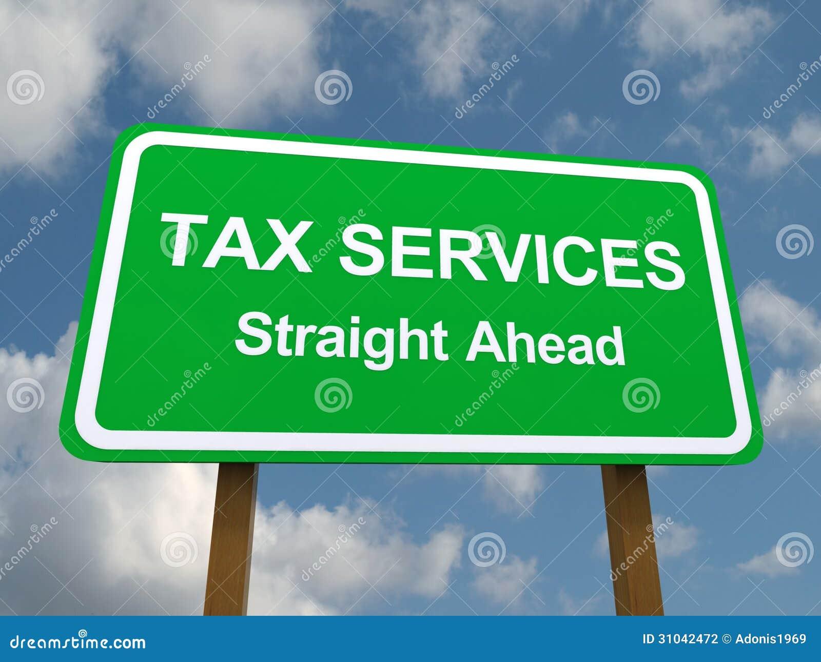 Serviços do imposto retos