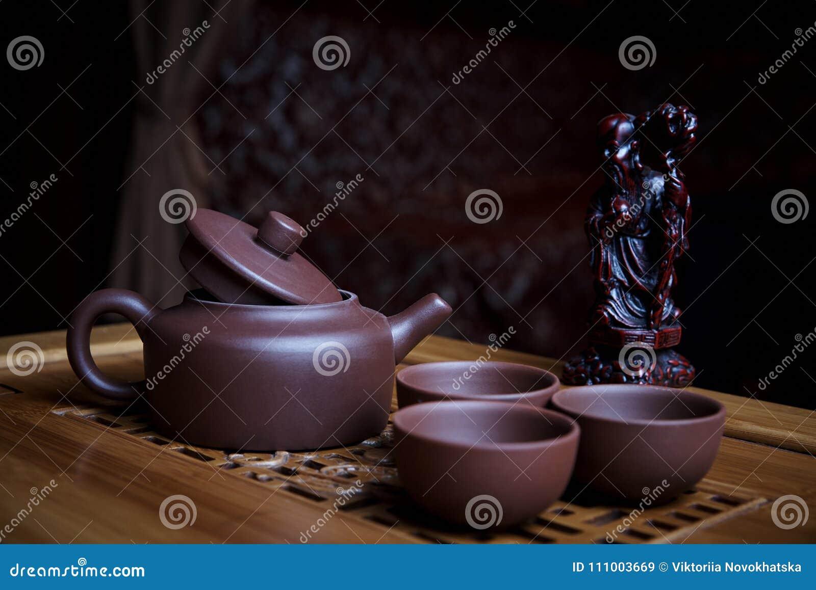 Service à thé d argile