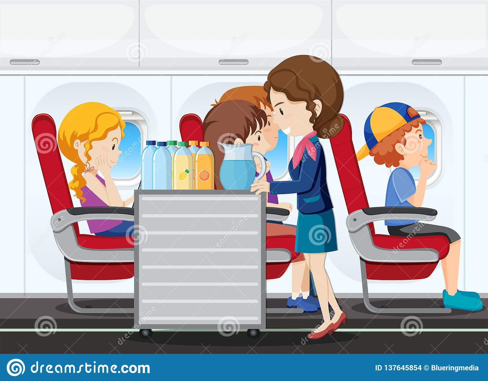 A service on the airplane