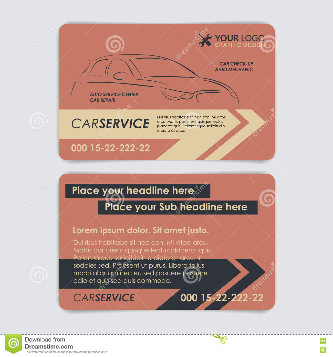 Service Car Business Card Template. Create Your Own Business Car ...