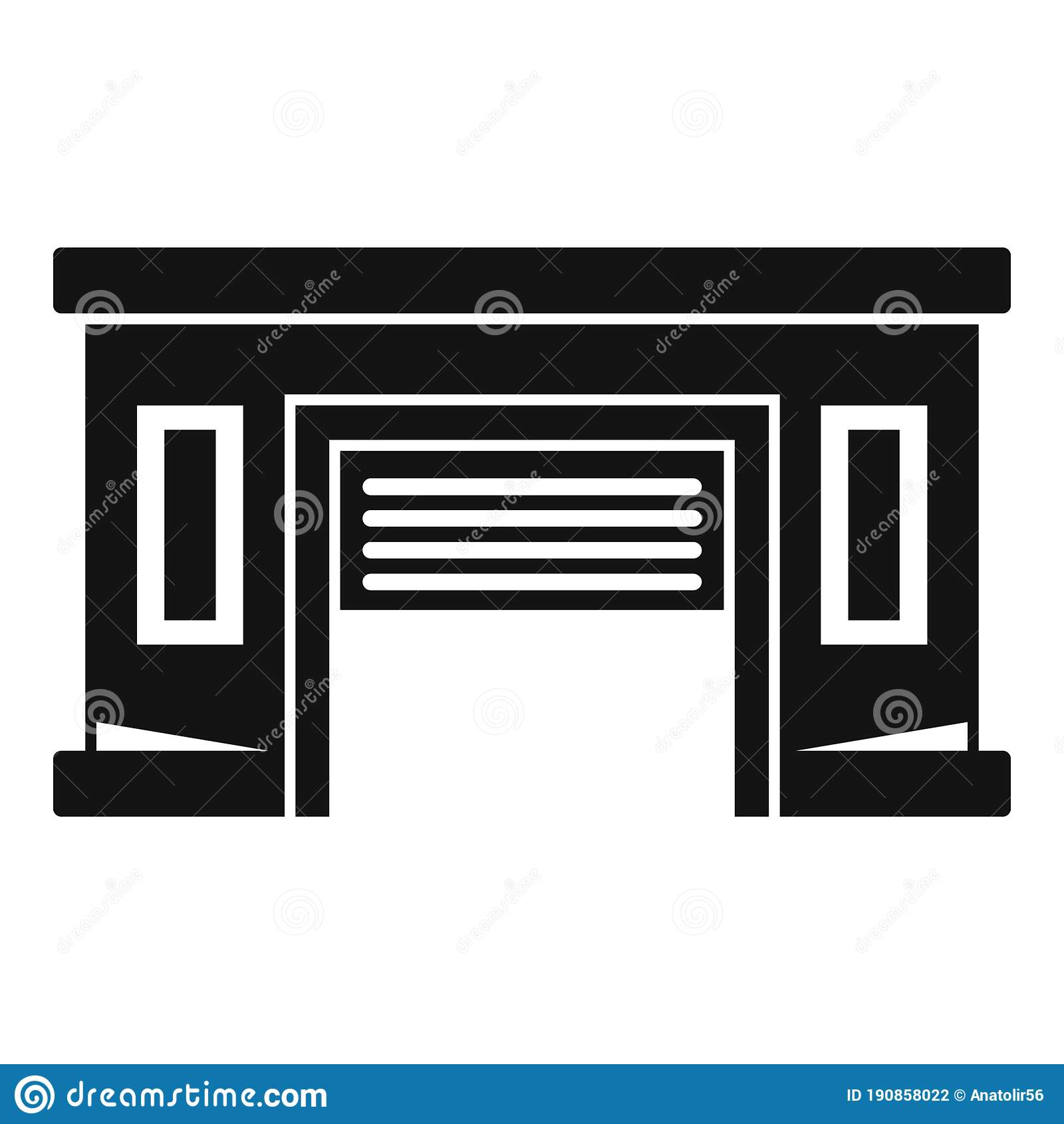 Service Car Garage Icon Simple Style Stock Vector Illustration Of Motor Sign 190858022