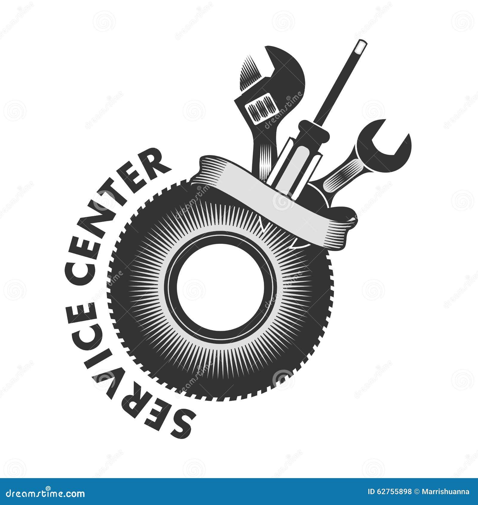 service center logo stock vector image 62755898 auto repair shop design ideas auto repair shop design