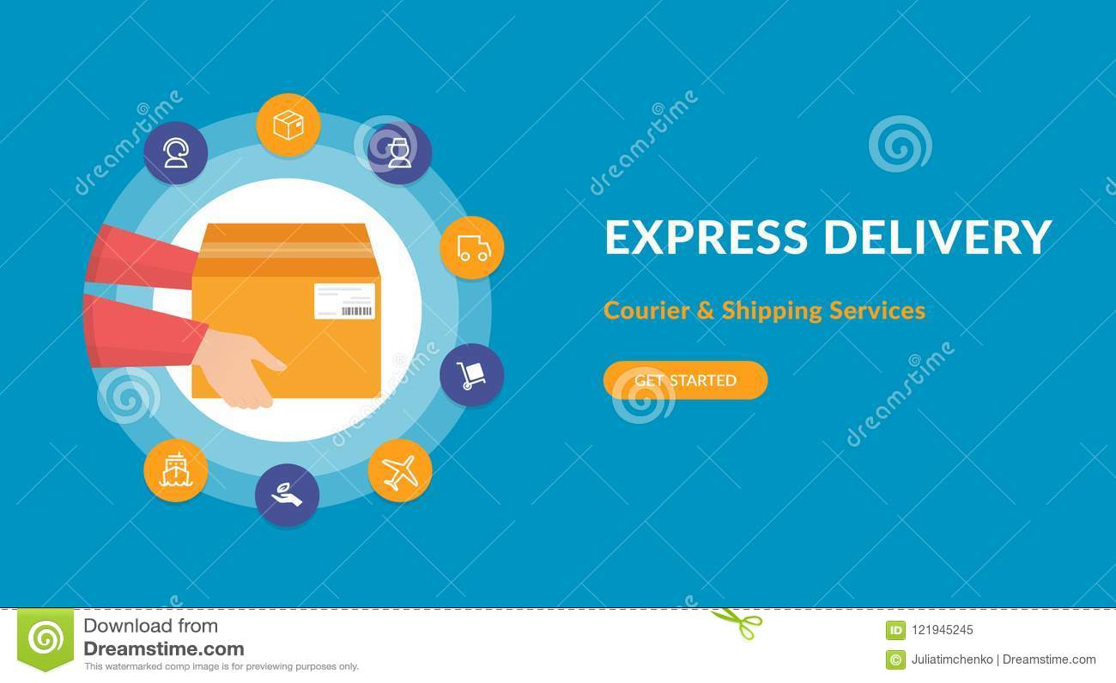 bfe28911d83a9c Service De Livraison Express Et Expédition Rapide Une Boîte En ...