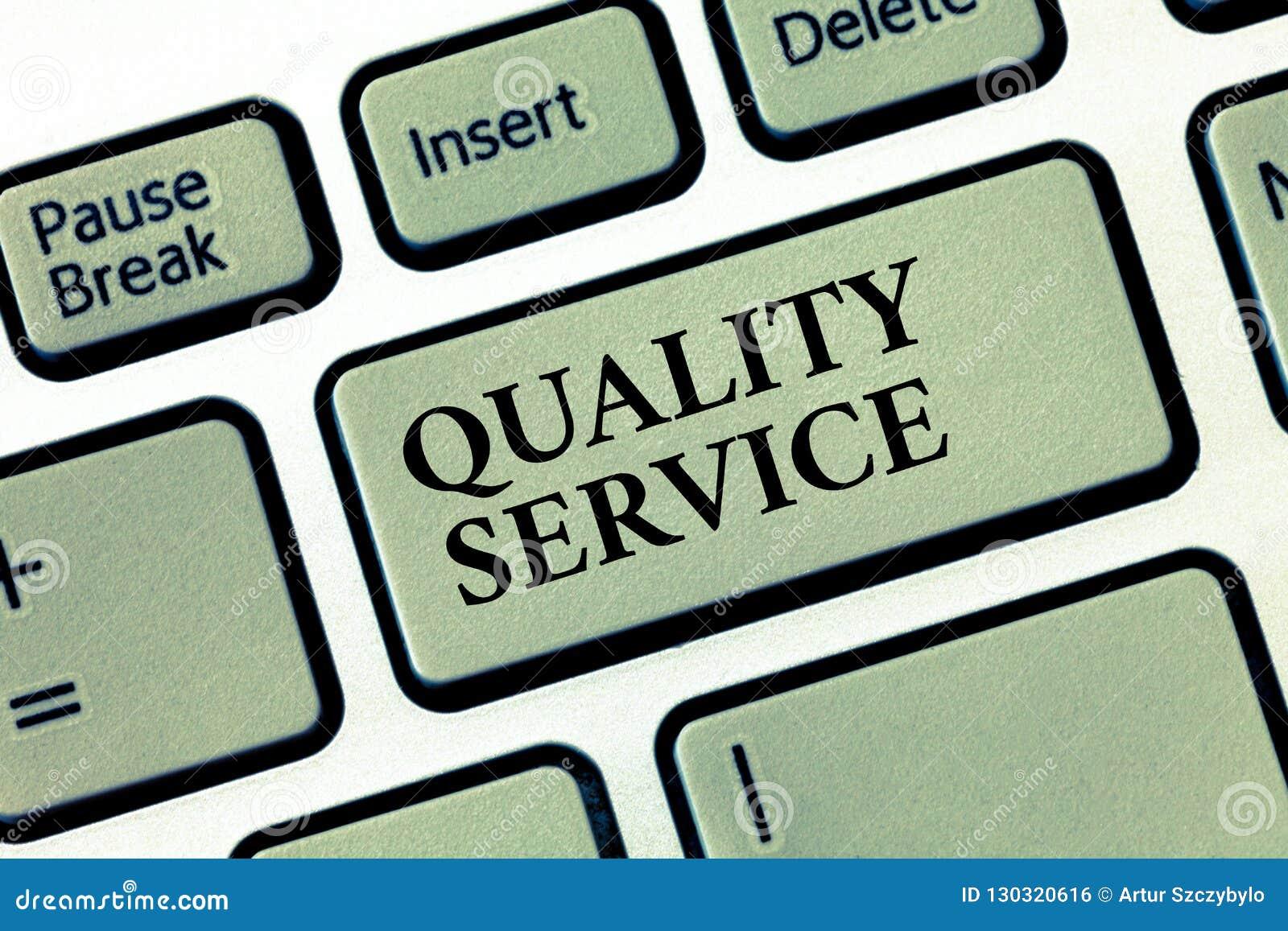 Service de qualité des textes d écriture Concept signifiant à quel point le service fourni se conforme aux attentes de client