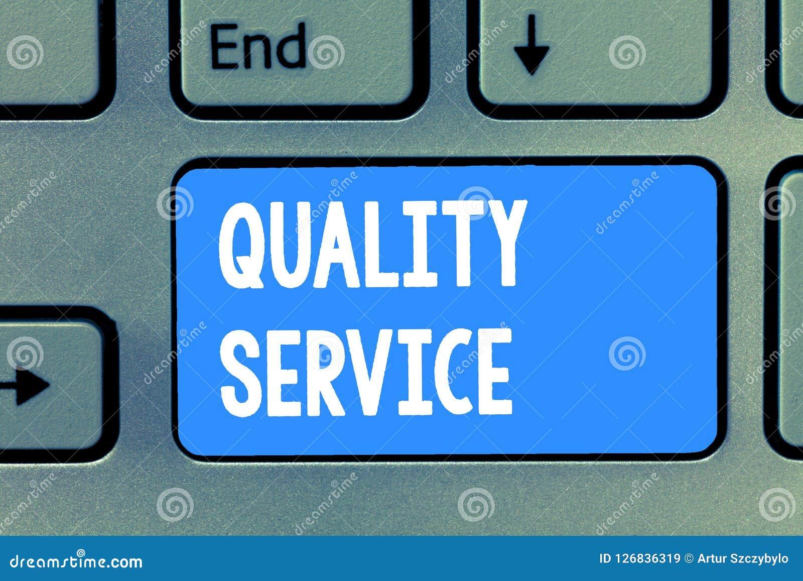 Service de qualité des textes d écriture de Word Concept d affaires pour à quel point le service fourni se conforme aux attentes