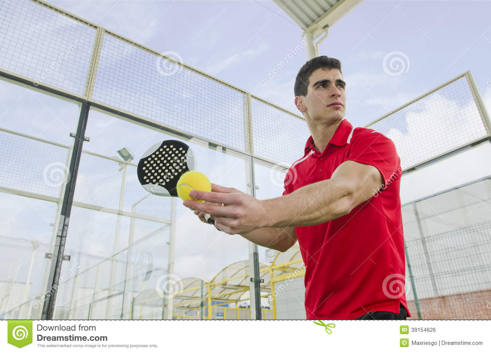 Service de tennis de palette